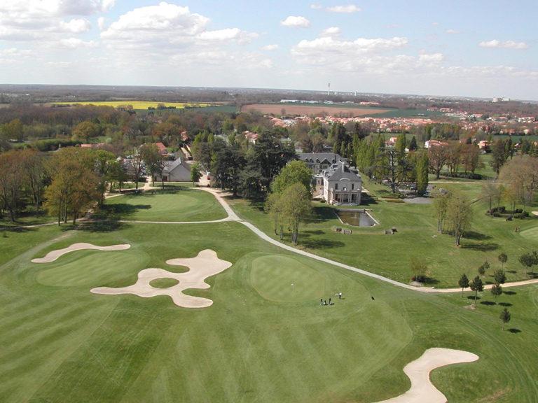 Vue aérienne du golf Bluegreen