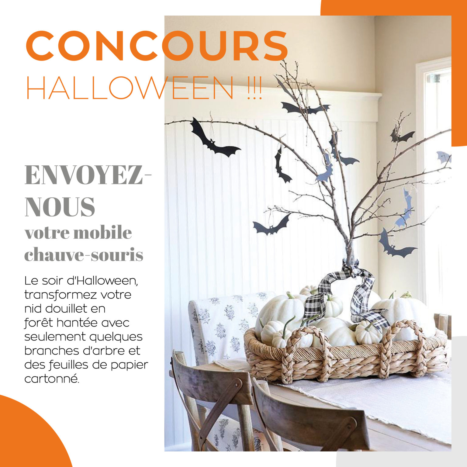 CONCOURS HALLOWEEN - MOBILE CHAUVE-SOURIS