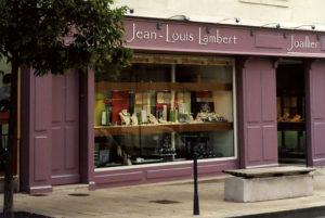 Vitrine de la bijouterie Lambert