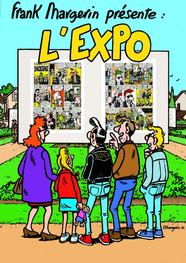 Exposition de Frank Margerin (BD grand format) au Jardin d'Images