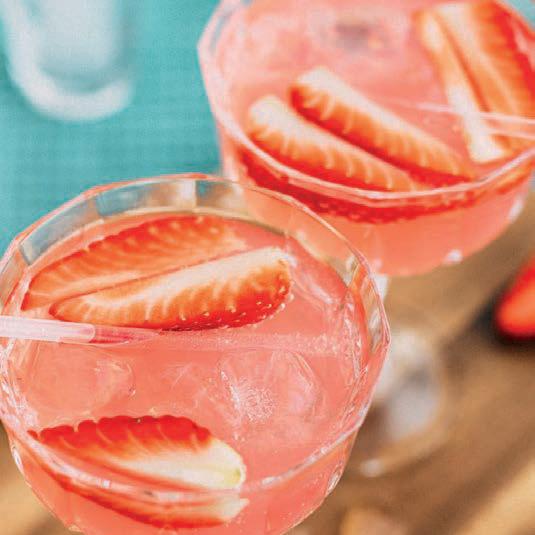 Eau de coco et fraises